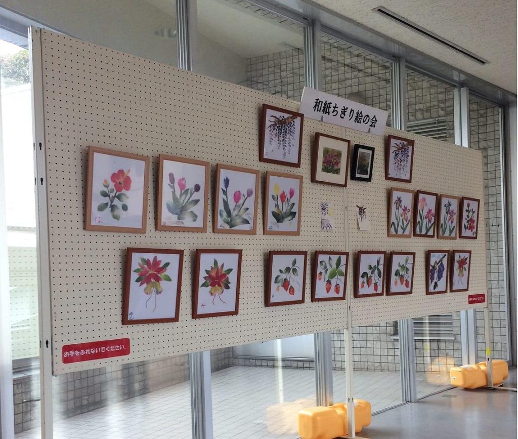 登録団体作品展開催中!~和紙ちぎり絵の会
