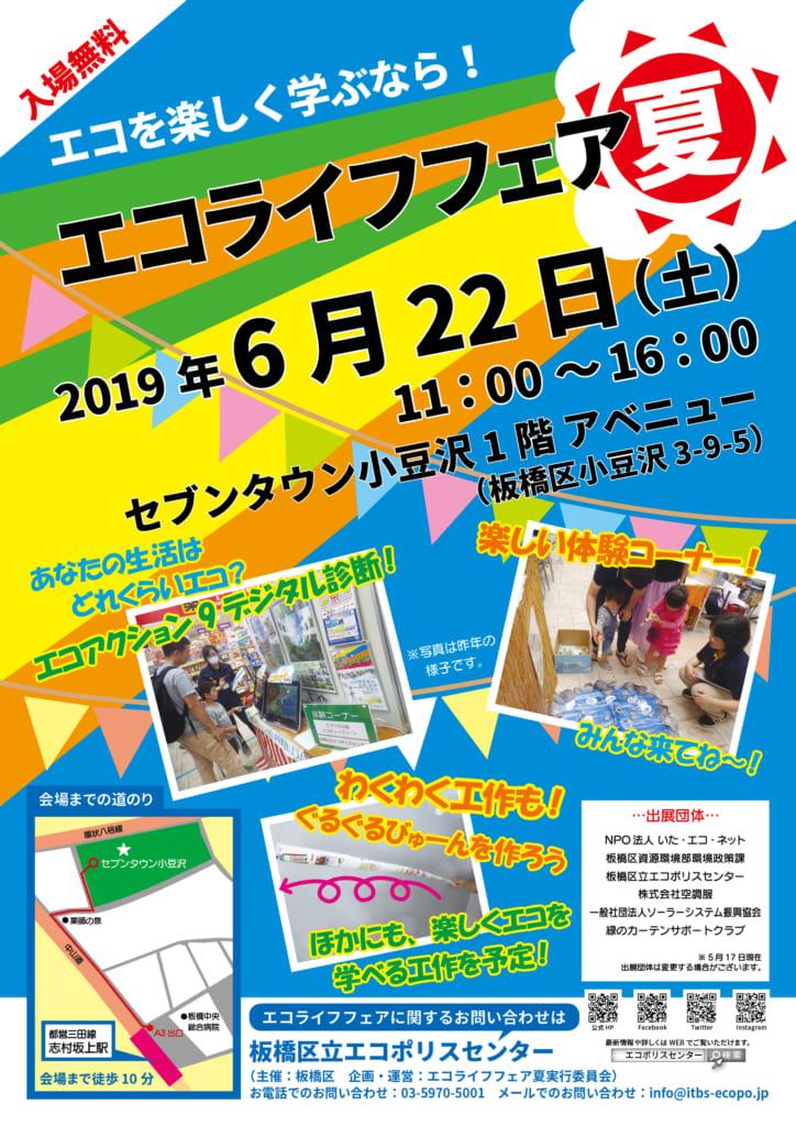 2019年度      エコライフフェア夏inセブンタウン小豆沢                       6月22日(土)開催しました!