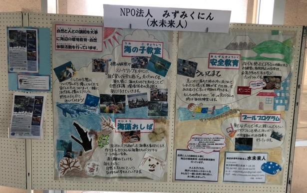 登録環境団体展示開催中!~NPO法人 水未来人(みずみくにん)~